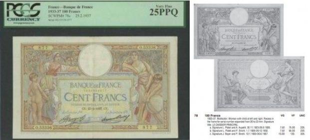 フランスの紙幣